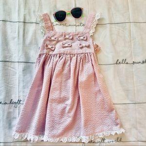 5/$30 10/$50 Bonnie Baby pink gingham jumper